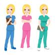 Happy Nurse Posing