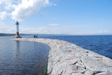 Baltic coast panorama, lighthouse