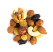 Healthy dried fruits and nuts