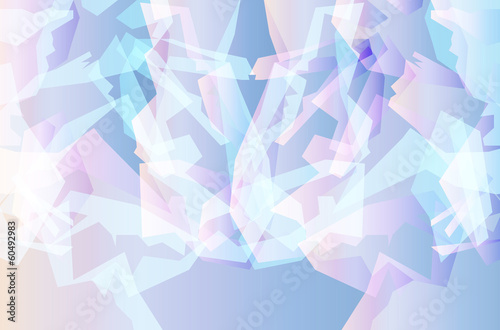 Ice abstract geometric vector background template