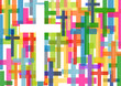 Christianity religion cross mosaic concept abstract background v