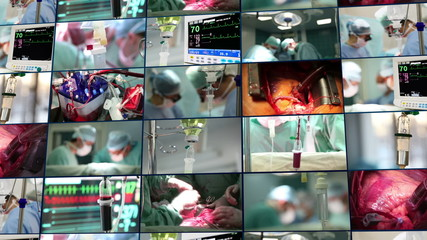 Medical montage. Surgery