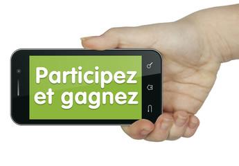Participez et gagnez. Mobile