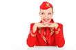 Happy stewardess