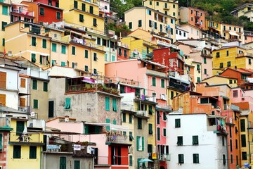 Colored houses in Riomaggiore