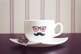 Coffee cup hipster concept background