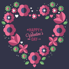 Valentine's day greeting card. Vector illustration