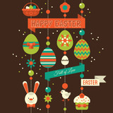 Easter greeting card design. Vector illustration