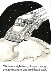 Student driver in space