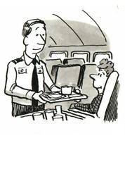 Male flight attendant