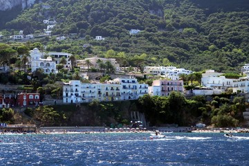 Buildings in the Capri island coast