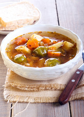 Vegetable spicy soup