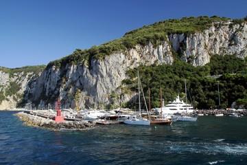 Boats in Marina Grande in Capri osland