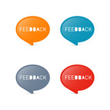 Colorful Vector Feedback Icons