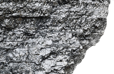 Piece of bituminous coal with sharp edge