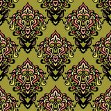 ethnic damask seamless pattern background