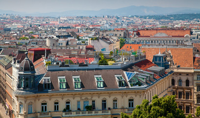 Vienna houses roofs
