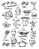 Fototapety menu icons