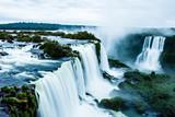 Fototapety Iguassu Falls,the largest waterfalls of the world,Brazilian side