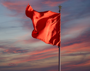 Red flags on the Tiananmen Square