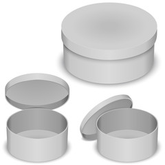 Round box vector template