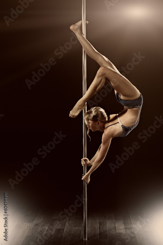Sky sports pole dance woman