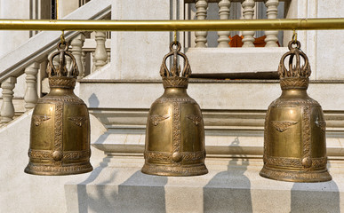 Religious bells in temple
