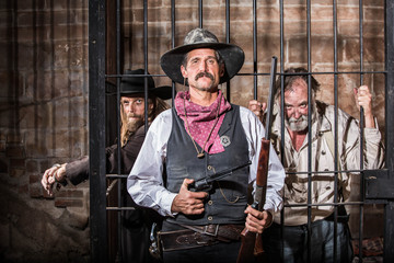 Tough Sheriff  With Prisoner