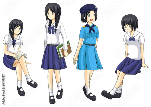 Cute Thai schoolgirls collection set 4