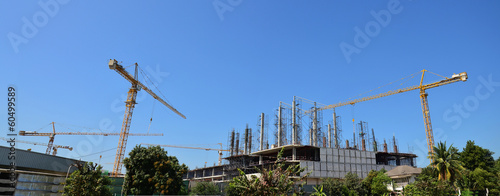 Panaroma Building construction Site at Thailand