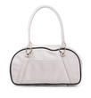White leather sport bag