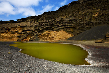 musk pond rock s in el golfo lanzarote