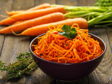 Delicious carrot  salad with fresh herbs