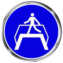 Gebotszeichen Übergang benutzen