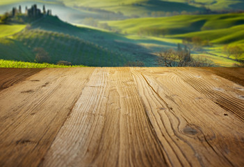 wood textured backgrounds on the tuscany landscape background