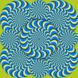 optical illusion wave circles