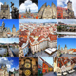 Collage of landmarks of Prague