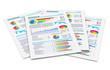 Leinwanddruck Bild - Financial reports