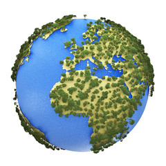 Mini Earth planet