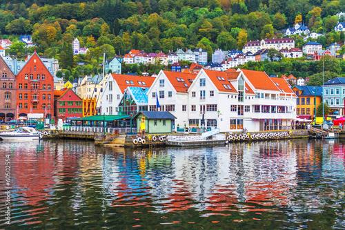 Staande foto Scandinavië Scenery of Bergen, Norway