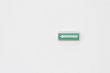 Exit arrow white