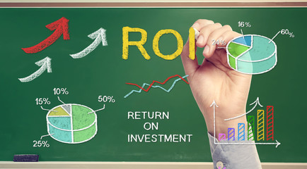 Hand drawing ROI (return on investment)