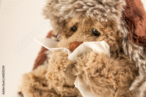 peluche malade-triste