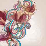 Floral decoration vector illustration
