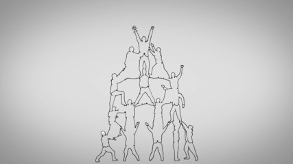 Teamwork animation