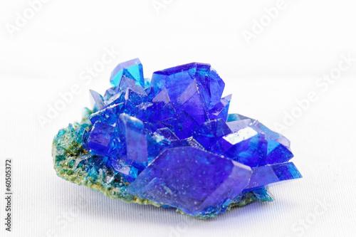 Leinwandbild Motiv Crystals of blue vitriol - Copper sulfate