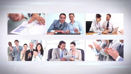 Business team montage