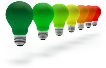 colorful light bulbs