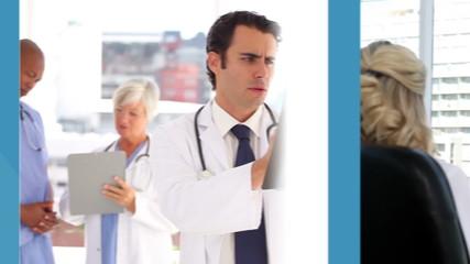 Medical business montage