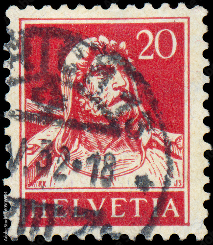 SWITZERLAND - CIRCA 1933: A stamp printed in the Switzerland sho